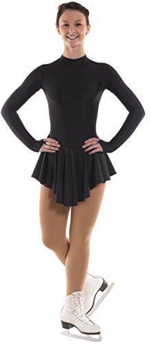 Mädchen Kleid Schlittschuh & passende Kunsthaar-Haargummi, 5 Farben 11 Jahre schwarz - schwarz