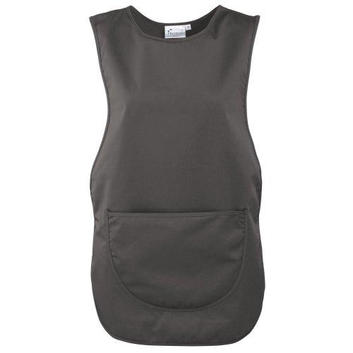 Grembiule con pannello posteriore e tasca davanti - indumenti dal lavoro - donna (s) (grigio scuro)