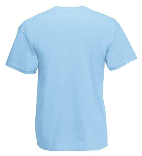 T-Shirt Super Premium von Fruit of the Loom S M L XL XXL 3XL verschiedene Farben Pastellblau
