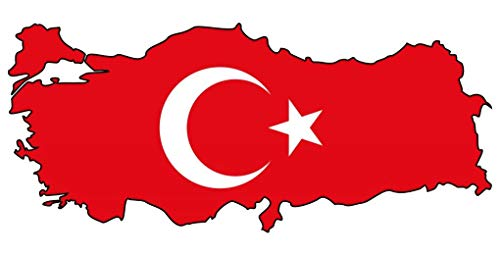 Samunshi® Türkei Aufkleber Autoaufkleber in den Nationalfarben in 5 Größen (10x4,4cm)