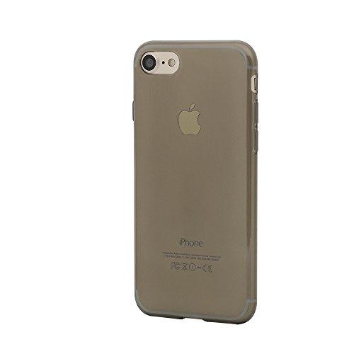 Boriyuan IPhone 7 Ultra Dünn Hülle TPU Silikon Schutzhülle für IPhone 7 4.7 Zoll Case Cover transparent (Transparent) Grau