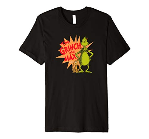 Dr. Seuss Grinch and Max Burst T-shirt