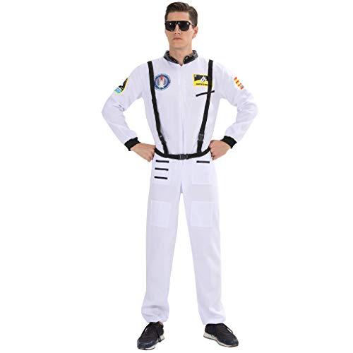 Kosmonauten Kostüm - EraSpooky Herren Astronaut Raumfahrer Kostüm Faschingskostüme Cosplay Halloween Party Karneval Fastnacht Kleidung für Erwachsene