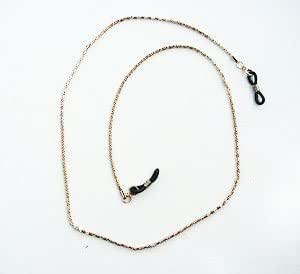 GLASSES NECK CHAIN GOLD COLOUR METAL LINKS LANYARD CORD 403AS
