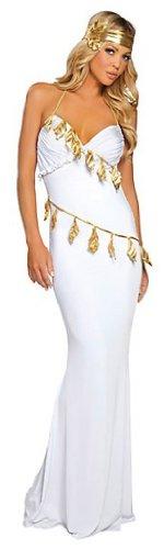 Kostüm: sexy Göttin von Sparta Gr. Small, weiß (Damen Spartan Kostüm)