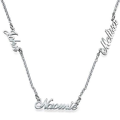 Collienght Eingelegte Namen fertigten Halsketten für Thanksgiving-Halloween besonders an(Silver 18)