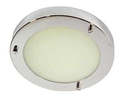 Rondo Badezimmer-Deckenleuchte, poliertes Chromfinish, G9-Glühbirne von Oaks Lighting auf Lampenhans.de