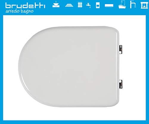 sedile wc compatibile per vaso dolomite alpina tavoletta copriwater legno poliestere mdf dedicato copri water adattabile bianco cerniere cromate