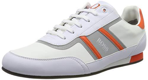 BOSS Herren Lighter_Lowp_nyrs Sneaker, Weiß (Open White 128), 44 EU