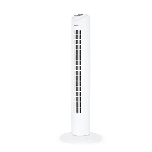 Messh TWZ 4000–Tower-Ventilator mit 3Geschwindigkeitsstufen, Timer Selbstabschaltung Bewegung und Leistung 45W, oszillierend