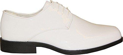 VANGELO , Chaussures de ville à lacets pour homme Blanc verni