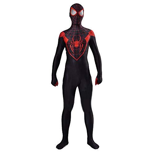 Hope Kinder Männer Jungen Superheld Spiderman Kostüm Cosplay Outfit Kostümfest Halloween Siamesische Strumpfhose Schwarz,Adult-XXXL (Jungen Für Superhelden-outfits)