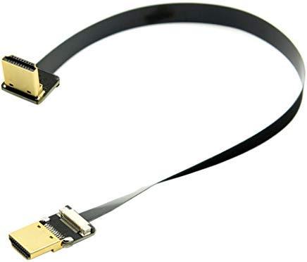 CY 20cm FPV HDMI Stecker nach unten abgewinkelt 90Grad HDMI Stecker HDTV FPC flach Kabel für Multicopter Aerial Photography Hdmi-hdmi-flachkabel