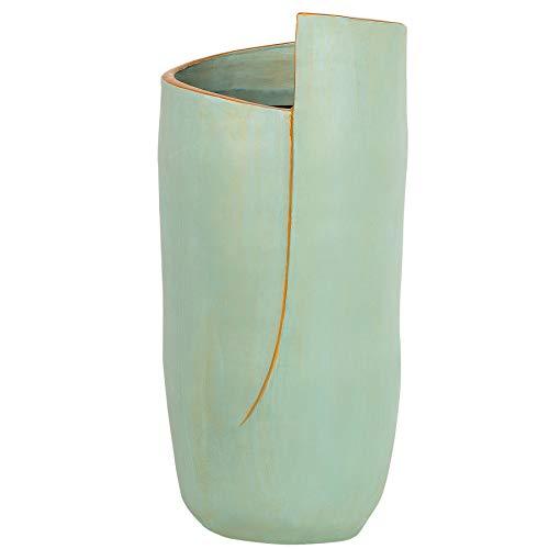 Beliani Moderne Deko-Bodenvase aus Ton in Mintgrün Abila