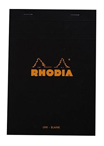 Rhodia 160009C - Taccuino A5, 80 fogli bianchi, Colore: Nero, 14,8 x 21 cm, 1 pezzo