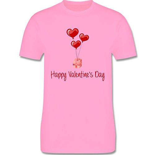 Valentinstag - Happy Valentine's Day Geschenk Herz Luftballon - Herren Premium T-Shirt Rosa