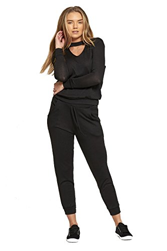 biHo Damen Trainingsanzug Gr. X-Large, schwarz