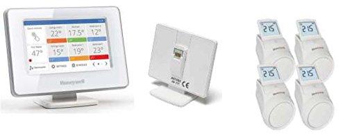 Preisvergleich Produktbild Honeywell evohome WiFi Paket mit 4x Regler HR92 Bediengerät & Gateway Smartphone App