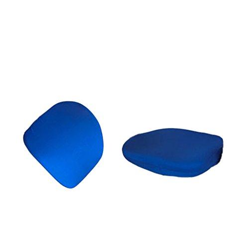 MagiDeal - Housse de chaise en tissu élastique, pour chaise de bureau pivotante bleu