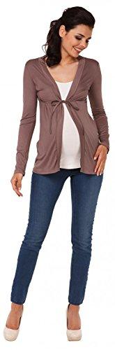 Zeta Ville - Maternité cardigan de grossesse - jersey doux et léger - femme 235c Cappuccino