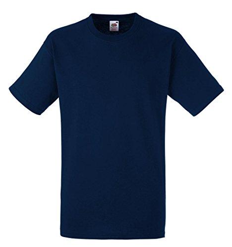 Fruit of the Loom Herren T-Shirt Heavy Cotton T Navy