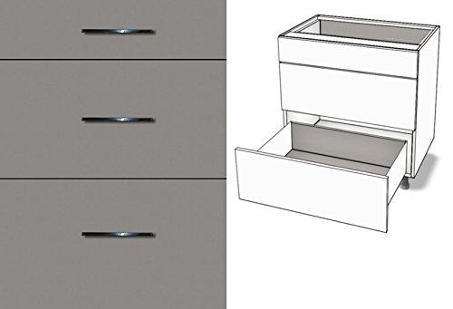 Premium-Ambiente TBZ625 Unterschrank 3-Schubladen Vollauszug Tandembox Antaro Softclosing EURODEKOR® (Breite 120cm, 04 Titan) - 04 3-schubladen-unterschrank