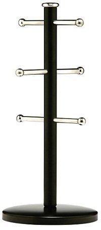 Design-schwarzes Finish Metall (6Tassen Küche Tasse Halter Baum Ständer Retro Design Metall Finish Tasse Baum NEU, metall, schwarz)