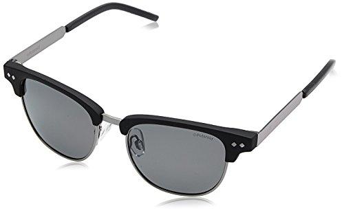 Polaroid Unisex-Kinder PLD 8023/S M9 003 47 Sonnenbrille, Schwarz (Matt Black/Grey Pz),