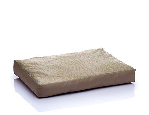 BONO Kunstleder Komfortmatratze Hundematte XL 75×120 Wild Creme-Beige Nr.07 - 2