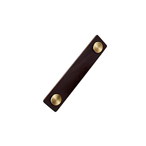 NAFE Griff für Schranktür, aus Leder, minimalistisch, handgefertigt, für Schminktisch, Schubladen, Türgriff (Leder + Messing), Knauf und Griff, Glas, 6, Größe - Traditionellen 6-schublade Kommode