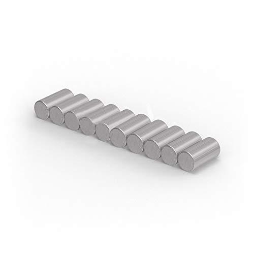 Magnastico Stabmagnete Neodym I Starke Magnete für Kühlschrank, Pinnwand (2 x 4mm I 20 Stück)
