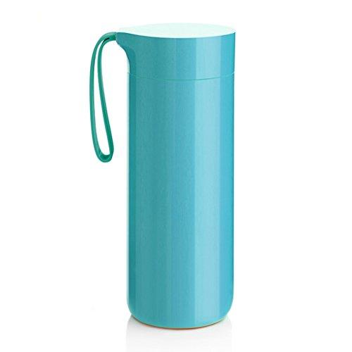 Tasses, mugs et soucoupes Tasse créatrice portative d'isolation couleur unie ne verse pas la tasse simple avec un couvercle avec la tasse portative d'eau de corde tasse de sports d'étudiant tasse de f