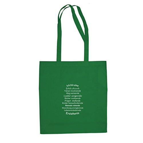 Ich bin eine Erzieherin - Stofftasche / Beutel Grün