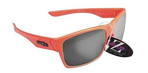 RayZor Professional leichte UV400orange Sports Wrap Running Sonnenbrille, mit Ein Smoked verspiegelter Blendfreie Objektiv