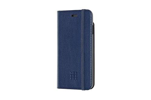 Moleskine - iPhone Hülle - Klassisches Etui im Notizbuchstil - Schutzhülle Ledertasche für Cover iPhone 6 6S 7 8 - Leder Saphir