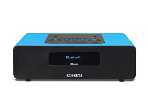 Cd Ipod Dock Stereo Player (Roberts Radio Blutune65 Marine Teal (DAB+/FM/Bluetooth/Lightning-Dock) 2.1 Soundsystem mit Fernbedienung blau)