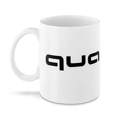 Audi 3291800700 Original Quattro Tasse Porzellantasse Kaffeetasse weiß/schwarz