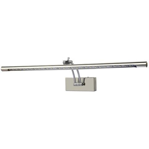 Yorbay LED 30*5050 SMD lámpara de pared para cuarto de baño de acero inoxidable, color