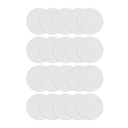 Incutex 20x Anti Rutsch Sticker Punkte für Badewanne und Dusche 10 cm Durchmesser, selbstklebend, transparent, rund