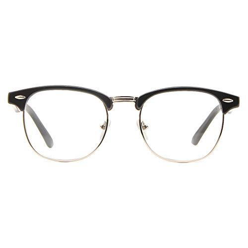 Cyxus Gafas con Filtro de luz Azul para Oficinista, Gafas Medio Marco Anti-Luz Azul para Ancla de...