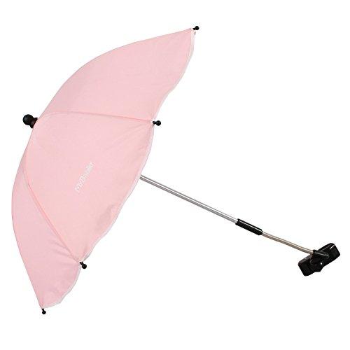 My Babiie Regenschirm, universeller Sonnen- und Regenschirm für Kinderwagen, Rosa