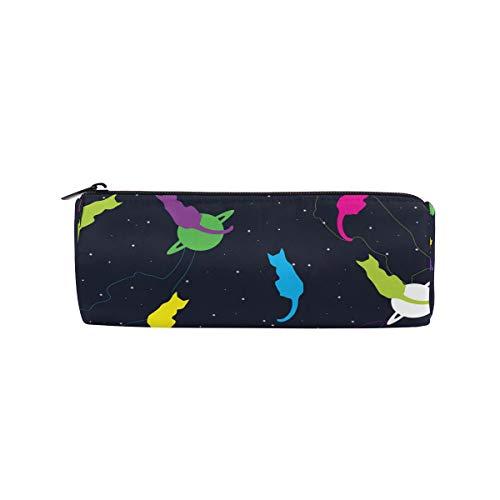 Ahomy Federmäppchen Space Cosmo Cat Reißverschluss Federtasche für Teenager Mädchen und Jungen, Reise-Make-up-Tasche für Frauen