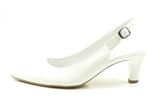 Gabor Shoes Fashion, Scarpe Col Tacco con Cinturino a T Donna Weiß