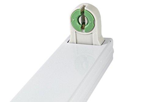 Plafoniera Con Tubo Led : Bes 24323 plafoniera con tubo led 120 cm t8 luce fredda 18 w