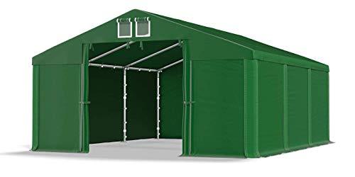 Das Company Lagerzelt 5x6m wasserdicht dunkelgrün Zelt 560g/m² PVC Plane hochwertig Garagenzelt Summer SD