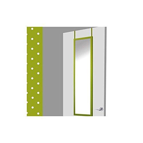 Espejo-para-puerta-verde-con-lunares-37x2x128