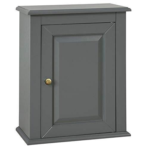 SoBuy® FRG203-DG Meuble Haut de Salle de Bain - 1 Porte Placard Commode Meuble de Rangement Mural Armoire Suspendue - Gris
