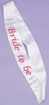 Alandra Party sash-btb/W Schärpe Bride To Be, Weiß, One size
