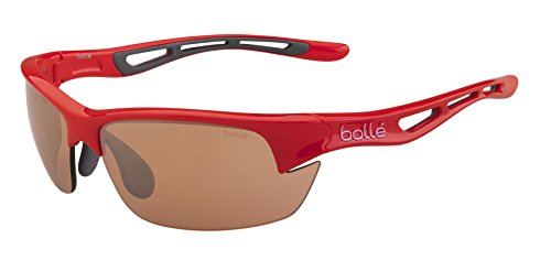 BOLLE BOLT S SUNGLASSES (MODULATOR V3 GOLF OLEO AF SHINY RED FRAME)