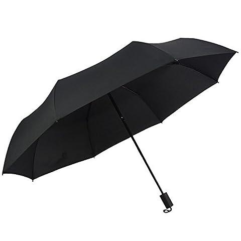 DunLuLuoYin Classic Design Easy Carrying Travel Umbrella for Men and Women Black